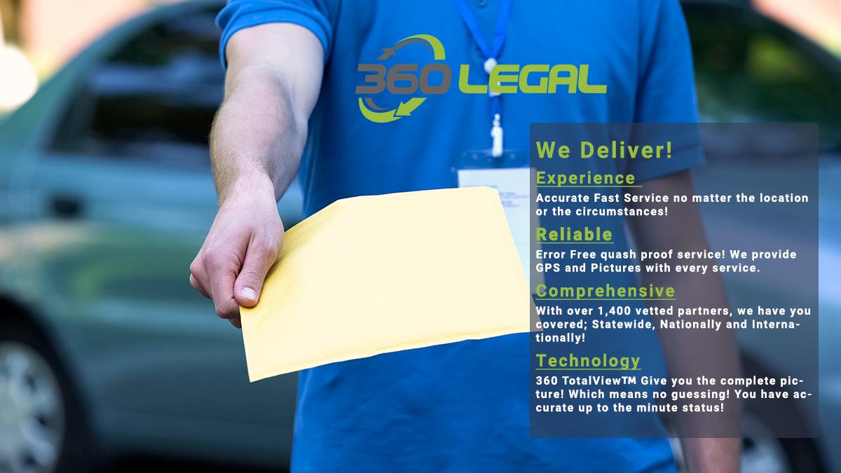 360 Legal, Process Server, Legal Technology